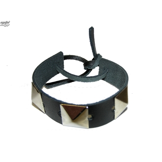 bracelet Pyramides 1, BLACK & METAL