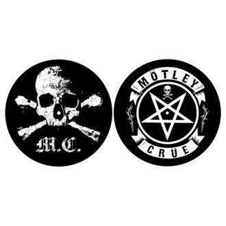 Feutrine pour platine (ensemble 2pcs) Mötley Crüe - SKULL & PENTAGRAM - RAZAMATAZ, RAZAMATAZ, Mötley Crüe