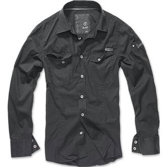 chemise pour hommes Brandit - Men chemise Slim - Noire - 4005/2