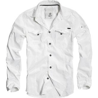 chemise pour hommes BRANDIT - Men chemise Slim Weiss - 4005/7