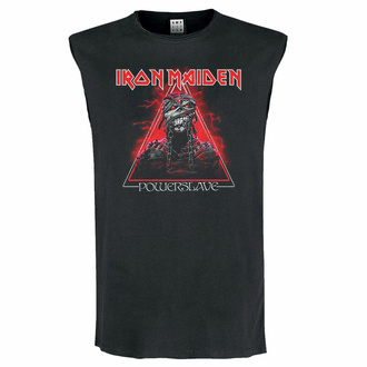 Débardeur unisexe IRON MAIDEN - RED POWERSLAVE - CHARCOAL - AMPLIFIED, AMPLIFIED, Iron Maiden