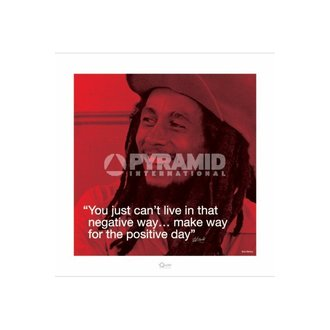 affiche Bob Marley (I.Quote - Positive Day) - de pyramides Affiches, PYRAMID POSTERS, Bob Marley