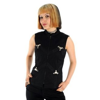 gilet pour femmes - Metal Top Denim Black - ADERLASS, ADERLASS