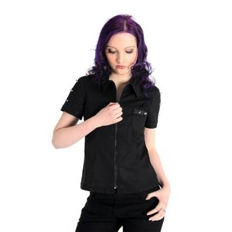 chemise pour femmes Aderlass - Prick Blouse Denim Noire, ADERLASS