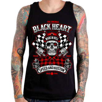 Débardeur hommes BLACK HEART - SPEED AND KUSTOM SKULL - NOIR, BLACK HEART