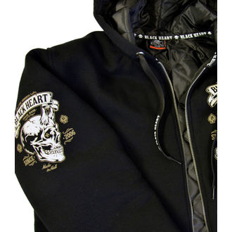 veste printemps / automne - DEVIL SKULL LINED - BLACK HEART