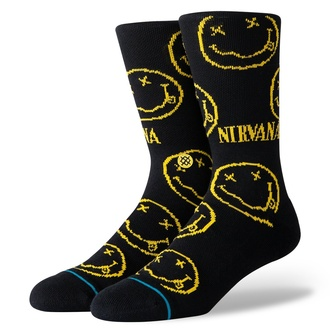 Chaussettes NIRVANA - FACE BLACK- STANCE, STANCE, Nirvana