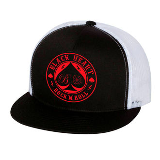 casquette BLACK HEART - ACE OF SPADES - BLANC, BLACK HEART