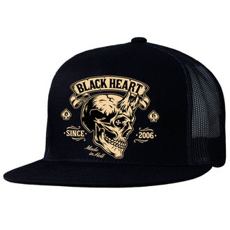 casquette BLACK HEART - DEVIL SKULL - NOIR, BLACK HEART