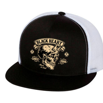 casquette BLACK HEART - DEVIL SKULL - BLANC, BLACK HEART