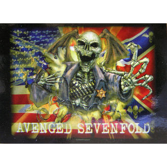 drapeau Avenged Sevenfold - Confederate, HEART ROCK, Avenged Sevenfold