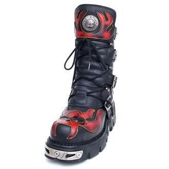 bottesen cuir - Vampire Boots (107-S1) Black-Orange - NEW ROCK, NEW ROCK