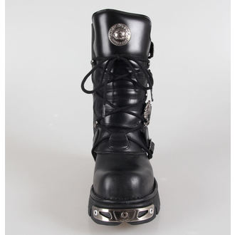 bottesen cuir - Metal Boots (391-S1) Black - NEW ROCK, NEW ROCK