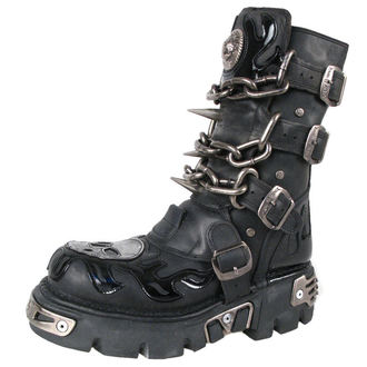 bottesen cuir - Chain Boots (727-S1) Black - NEW ROCK