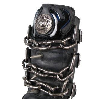 bottesen cuir - Chain Boots (727-S1) Black - NEW ROCK, NEW ROCK