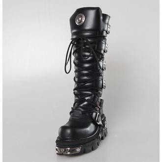 bottesen cuir - 6-Buckle Boots (272-S1) Black - NEW ROCK, NEW ROCK