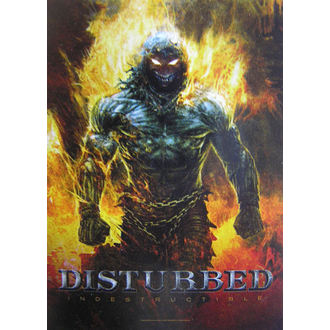 Drapeau Disturbed 'Indestructible' HFL 1022, HEART ROCK, Disturbed