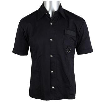 chemise pour hommes Aderlass - Anneau chemise Denim Noire, ADERLASS