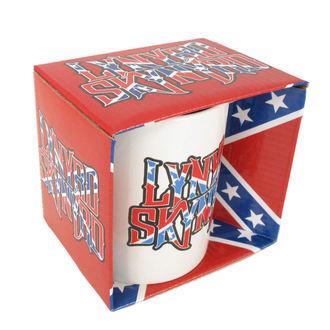tasse Lynyrd Skynyrd - Confederate logo BLANC, ROCK OFF, Lynyrd Skynyrd