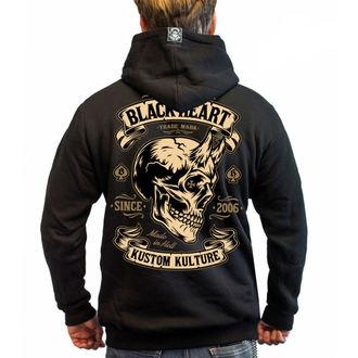 sweat-shirt avec capuche pour hommes - DEVIL SKULL - BLACK HEART, BLACK HEART