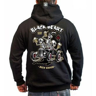 sweat-shirt avec capuche pour hommes - BEER BARON - BLACK HEART, BLACK HEART