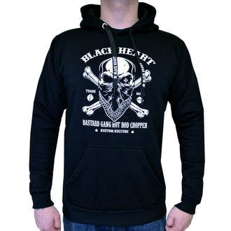sweat-shirt avec capuche pour hommes - ROBBER - BLACK HEART, BLACK HEART