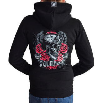 sweat-shirt avec capuche pour femmes - DEVIL ROSE - BLACK HEART, BLACK HEART