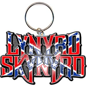porte-clés - pendentif Lynyrd Skynyrd (Drapeau Logo) - ROCK OFF, ROCK OFF, Lynyrd Skynyrd
