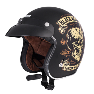 Casque BLACK HEART - DEVIL SKULL - NOIR, BLACK HEART
