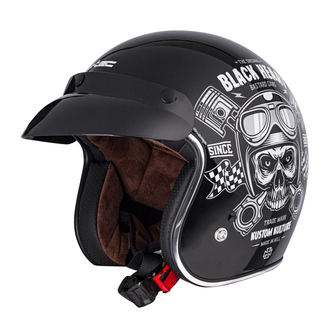 Casque BLACK HEART - PISTON SKULL - NOIR, BLACK HEART