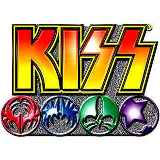 punaise Kiss - Logo Icons pin badge - ROCK OFF, ROCK OFF, Kiss