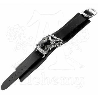 bracelet Pain is Pleasure Leather Strap - ALCHEMY GOTHIC, ALCHEMY GOTHIC