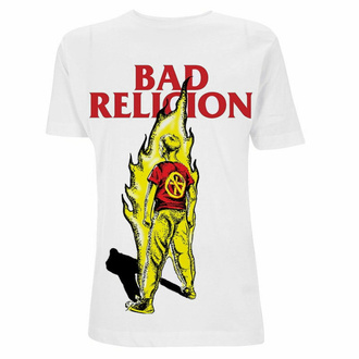 t-shirt pour homme Bad Religion - Boy He Fire - blanc, NNM, Bad Religion