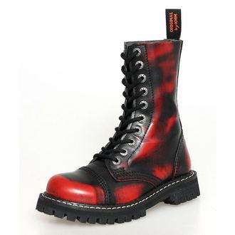 bottes en cuir - KMM - Red/Black-100