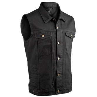 Gilet hommes CAPRICORN ROCKWEAR - black without frays, CAPRICORN ROCKWEAR