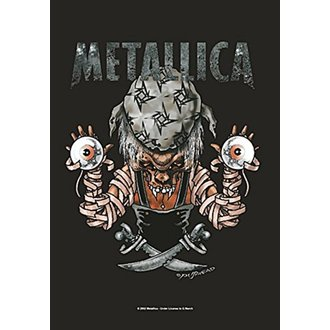 Drapeau Metallica - Pirate, HEART ROCK, Metallica