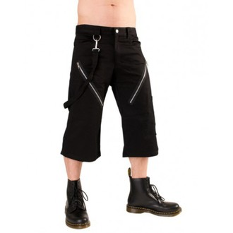 short 3/4 pour hommes BLACK PISTOL - Zip Short Pants Denim Noire, BLACK PISTOL
