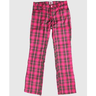 pantalon BLACK PISTOL - Hipster Tartan Pink, BLACK PISTOL