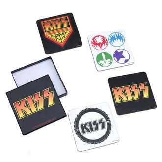 de bière dessous Kiss - A Piece Coaster Set - ROCK OFF, ROCK OFF, Kiss