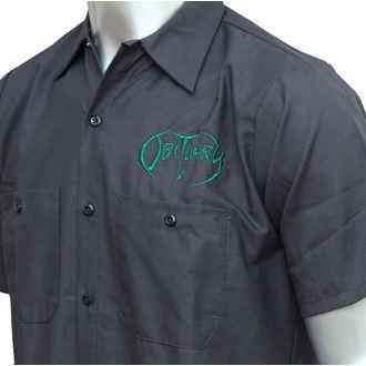chemise pour hommes Obituary - EMB Logo - GRN / charbon - JSR, Just Say Rock, Obituary