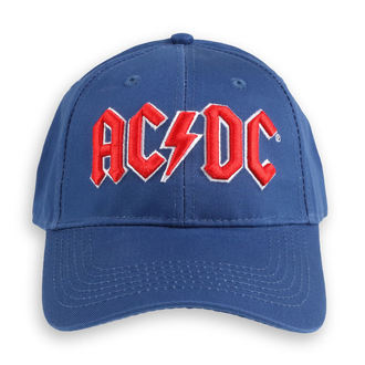 Casquette AC / DC - Red Logo Mid-Blue - ROCK OFF, ROCK OFF, AC-DC