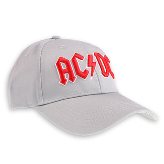 casquette AC / DC - Red Logo Grey - ROCK OFF, ROCK OFF, AC-DC