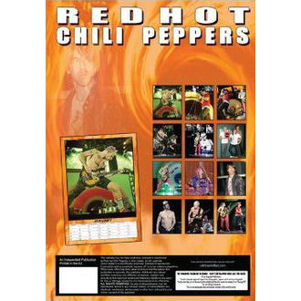 calendrier pour année 2013 - Red Hot Chili Peppers, NNM, Red Hot Chili Peppers