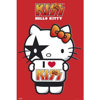 affiche Hello Kitty - Kiss I Love - GB Affiches, HELLO KITTY, Kiss