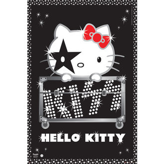 affiche Hello Kitty - Kiss Tour - GB Affiches, HELLO KITTY, Kiss
