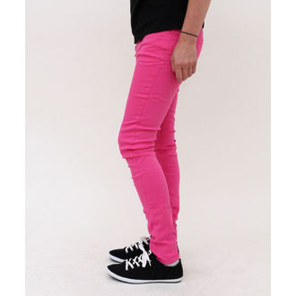 pantalon pour femmes HELL BUNNY - Super Skinny - Pink, HELL BUNNY