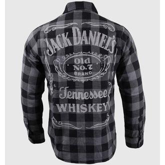 chemise pour hommes avec longue manche Jack Daniel`s - Noir / Gris - BIOWORLD, JACK DANIELS