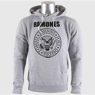 sweat-shirt avec capuche pour hommes Ramones - Seal Logo Gry - BRAVADO EU, BRAVADO EU, Ramones