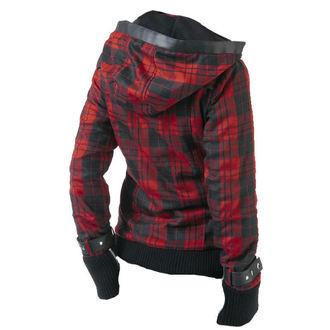 veste printemps / automne pour femmes - Z Red Check - POIZEN INDUSTRIES, POIZEN INDUSTRIES