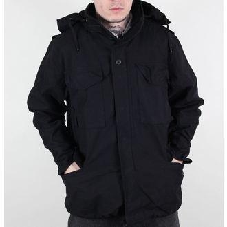 veste pour  hommes printemps-automne M65 Fieldjacket NYCO lavé - NOIRE, MMB